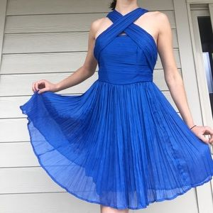 BB Dakota Blue Chiffon Dress